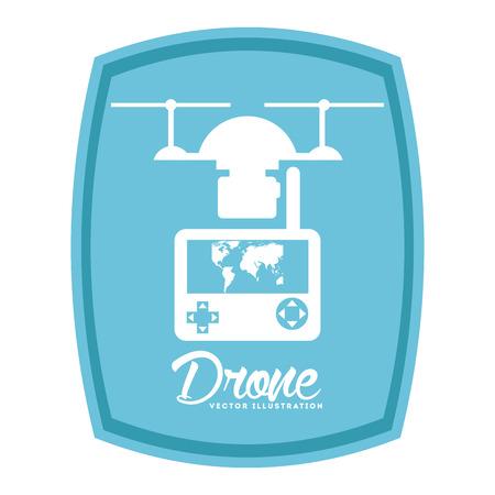 antena: drone technology design, vector illustration eps10 graphic Illustration