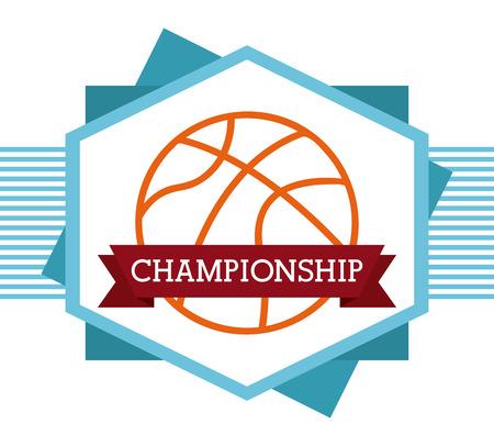 balon de basketball: dise�o de deporte de baloncesto, ilustraci�n vectorial gr�fico eps10 Vectores