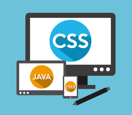 css3: programming language design, vector illustration eps10 graphic