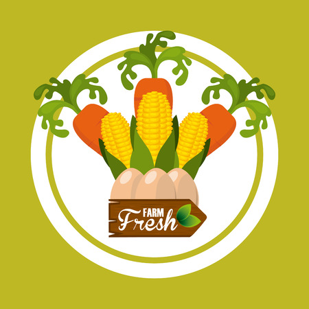 farm fresh: farm fresh design, vector illustration Illustration