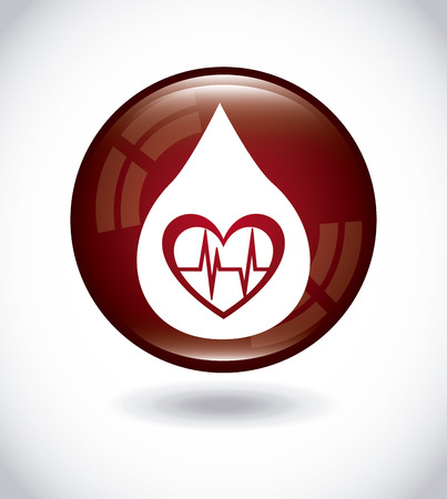 rh: donate blood design, vector illustration  Illustration