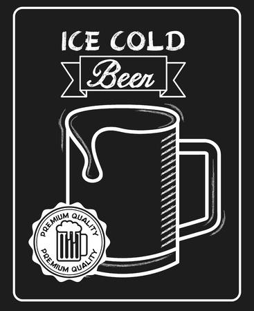 cold beer: cold beer design, vector illustration