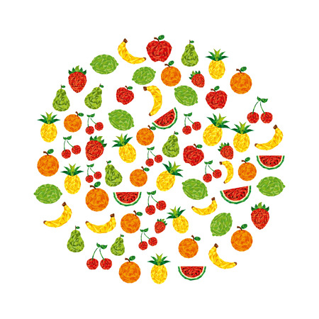 abstract fruit: abstract fruit design, vector illustration  Vectores