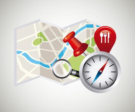 gps device: gps location design, vector illustration  Illustration