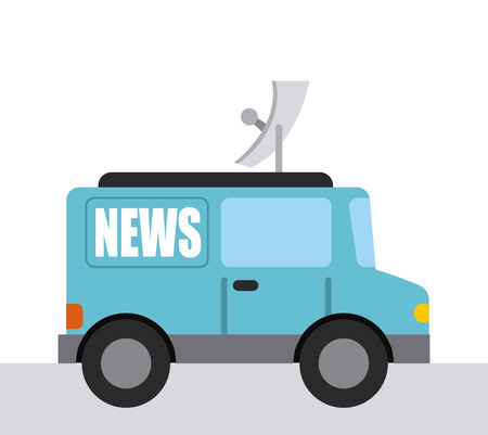 news van: news concept design, vector illustration