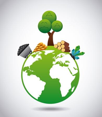 ressources naturelles: ressources naturelles conception, illustration vectorielle Illustration