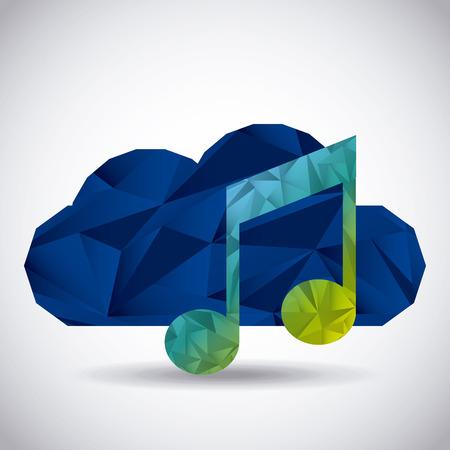 safe and sound: cloud security design, vector illustration