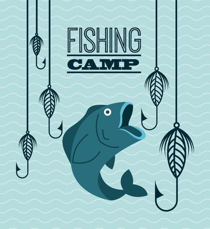 specie: fishing tournament design, vector illustration  Illustration