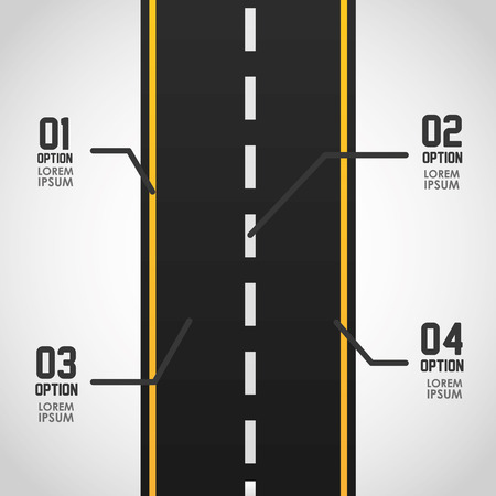 high way: road infographics design, vector illustration
