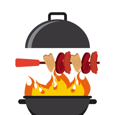 bbq menu design, vector illustration    Illustration