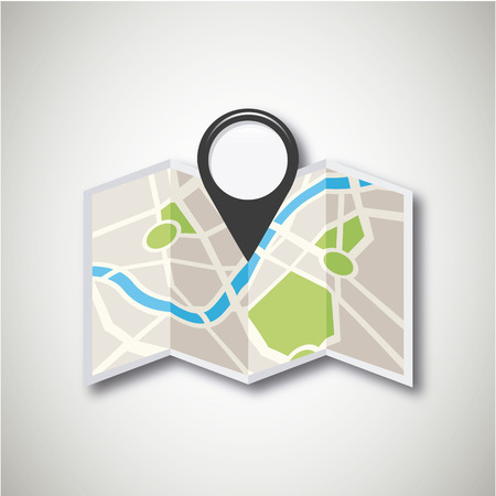 gps location design, vector illustration   向量圖像