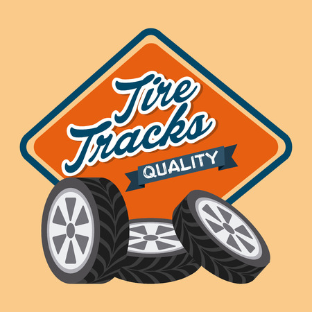 tire tracks: tire tracks design, vector illustration