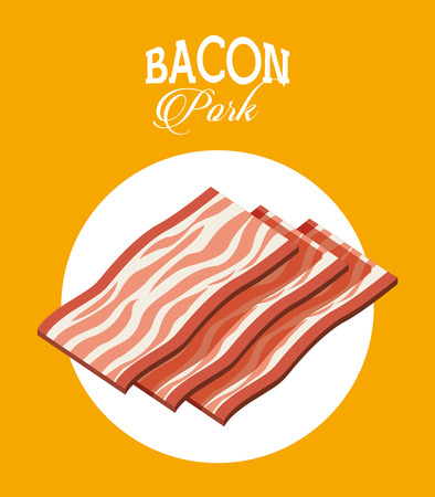 c�telette de porc: boucher concept de design, illustration vectorielle Illustration