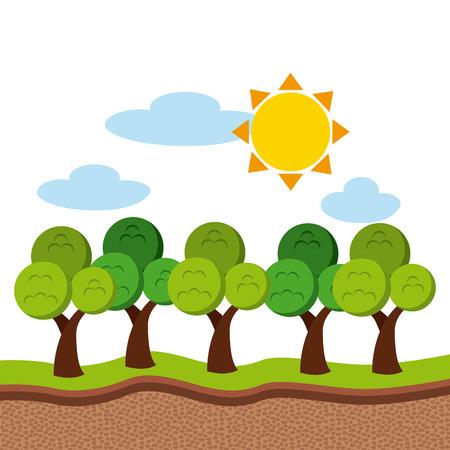 los recursos naturales de diseño, ilustración vectorial
