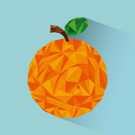 leafs: abstract fruit design, vector illustration  Illustration