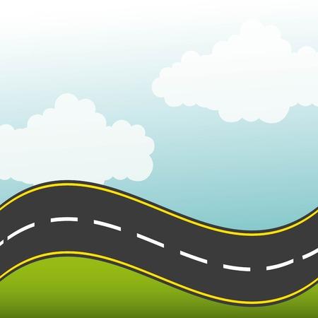 road highway design, vector illustration 일러스트