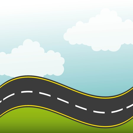 road highway design, vector illustration Illustration