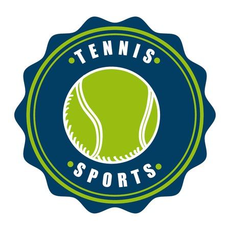 tenis: tennis emblem design, vector illustration Illustration