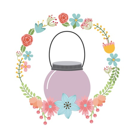 decoration design: decoraci�n floral dise�o, ilustraci�n vectorial