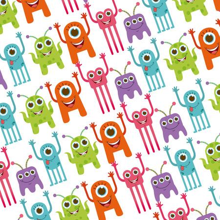monsters: cute monster design, vector illustration