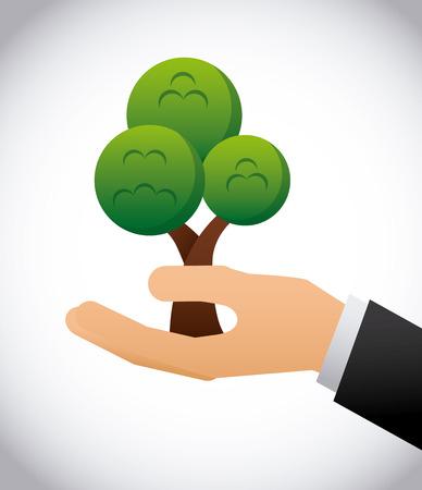 forest management: natural resources design, vector illustration  Illustration