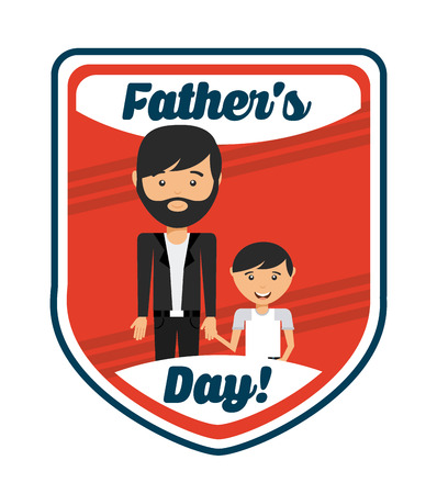 dad son: fathers day design, vector illustration