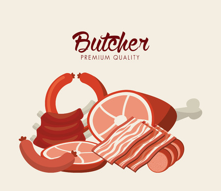 beef: butcher concept design, vector illustration