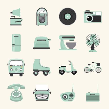 electrics: retro device design, vector illustration