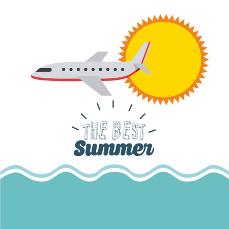 wave hello: summer vacations design, vector illustration