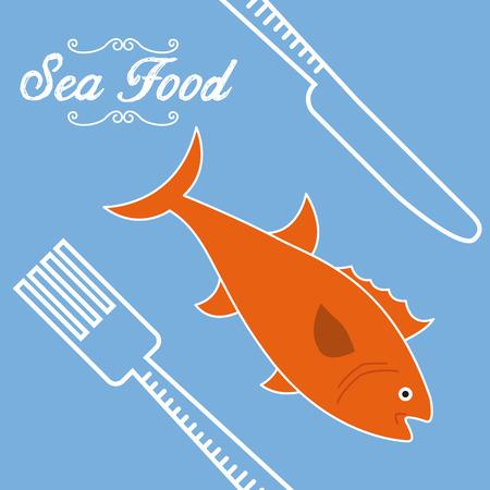 sea food: sea food design, vector illustration