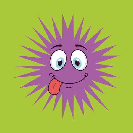 unhygienic: cute infection  design, vector illustration