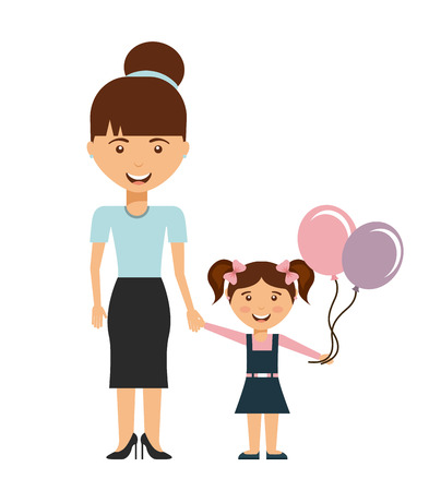young relationship: happy family design, vector illustration  Illustration