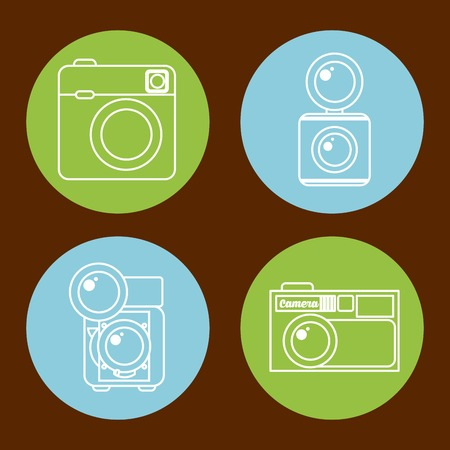 photographic: photographic icon design, vector illustration