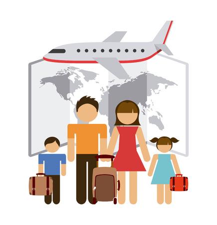 family vacation: travel vacations design, vector illustration