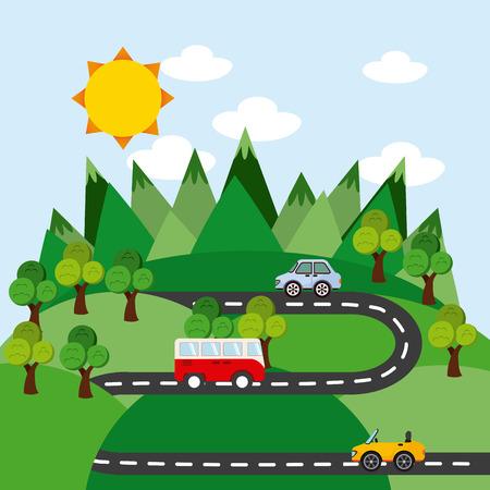 forest management: natural resources design, vector illustration