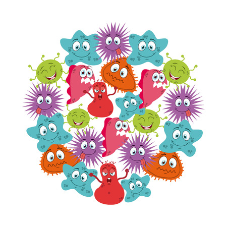 infection: cute infection  design, vector illustration