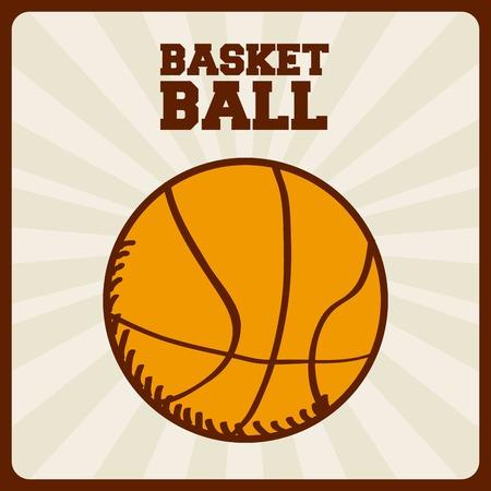 balon de basketball: diseño de deporte de baloncesto, ilustración vectorial Vectores