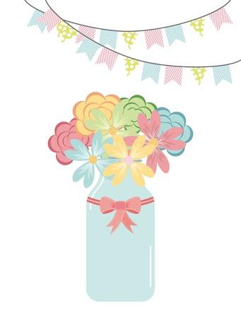 decoration design: floral decoration  design, vector illustration