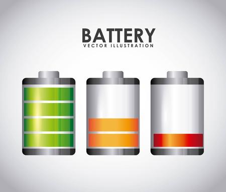 loaded: battery power design, vector illustration