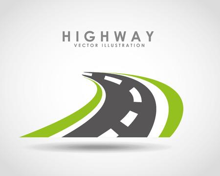 highway road  design, vector illustration