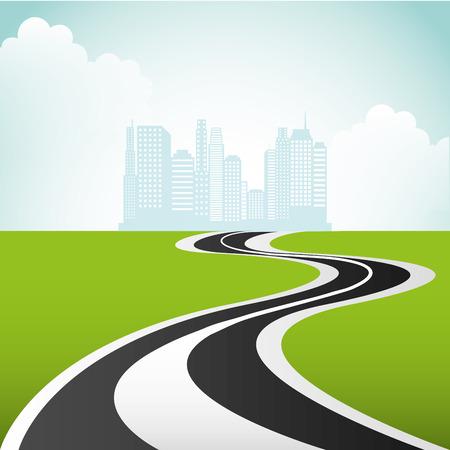 고속도로: highway road  design, vector illustration 일러스트