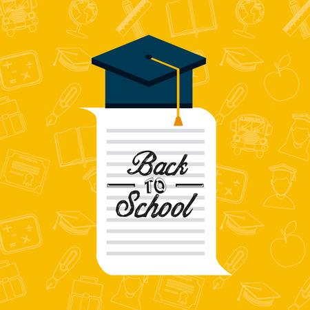 semester: back to school design, vector illustration