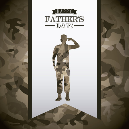 army background: fathers day design, vector illustration   Illustration