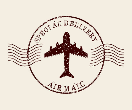 De postzegel ontwerp, vector illustratie