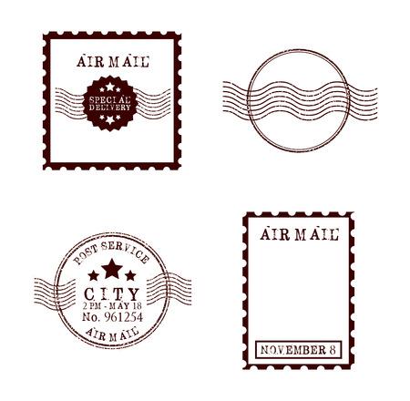 スタンプ メール デザイン、ベクトル イラスト