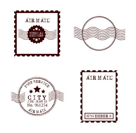 Disegno francobollo di posta, illustrazione vettoriale Archivio Fotografico - 41694028