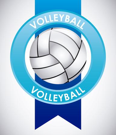 balon de voley: diseño del emblema del deporte, ilustración vectorial gráfico eps10