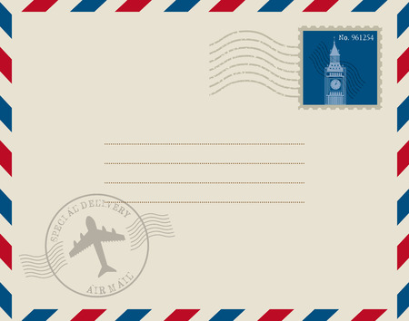 stamp mail design, vector illustration