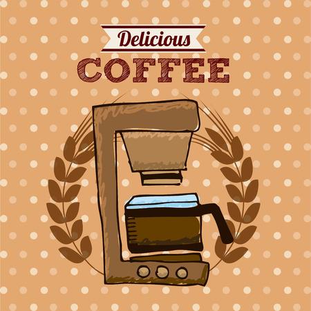 delicious: delicious coffee design, vector illustration