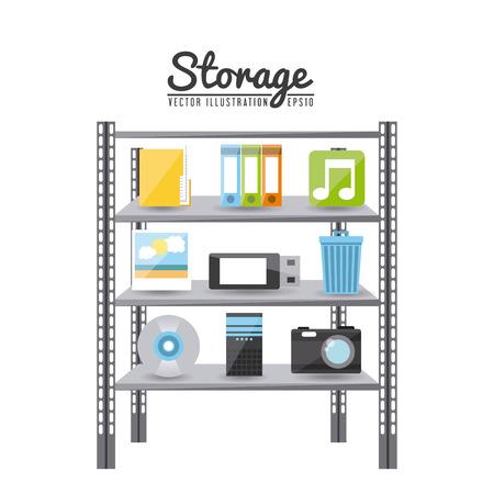 storage device: storage device design, vector illustration eps10 graphic
